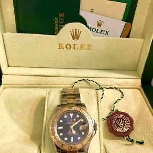 Rolex Yachtmaster 35mm Blue dial 18k